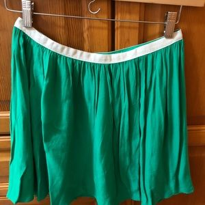 TopShop green skirt with white band